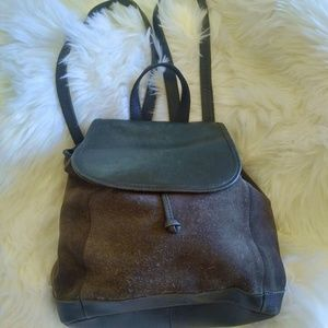Vintage suede/leather LL Bean BoHo backpack